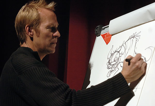 Dave Burgess, live sketch demo of the Lion King