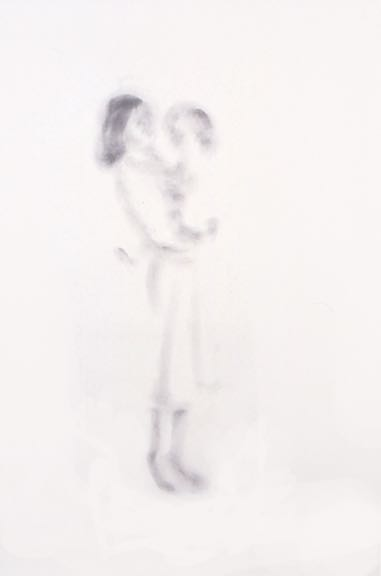 "Image from Dyad Series (#1), 2000 Powdered graphite on paper, 38.5"" x 50.75"""